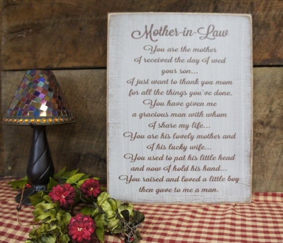 Mother In Law Gifts Wedding: Wedding Gift/Sign For Your Mother-in-Law. We Can Change