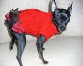 Carmen style dog dress-Red Dog Clothing-Small-Dog Costume-Dog Fashion