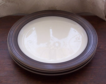 Rare vintage Pyrex Terra plates 357 platters 12 inch charger plates large plates set of three