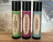 3-Pack Minty Flavors All-Natural Beeswax Lip Balm. Mint Chocolate Chip + Lavender Peppermint + Minty Vanilla. Organic Shea & Cocoa Butters.