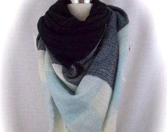 oversized blanket scarf/blanket scarf/tartan scarf