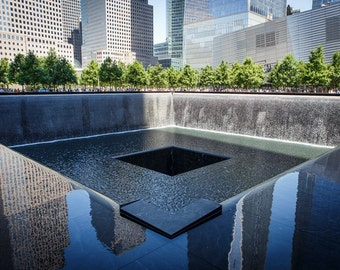 WTC Memorial Photograph - New York City Print - Landscape Print - Financial District, World Trade Center Memorial, Manhattan - 9/11