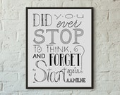 SALE // Mistake Print // Forget To Start // Forgetfulness Quote Art // Calligraphy Quote A. A. Milne