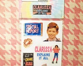 Clarissa Explains It All Handmade Sticker Set of 8