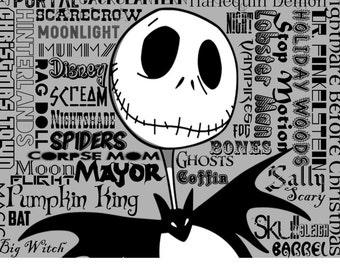 Jack Skellington Word Print