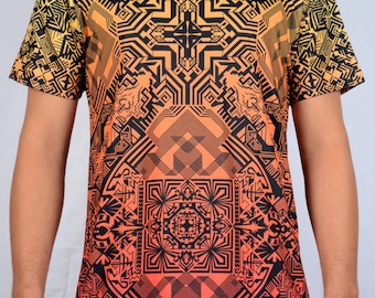 Khamadi All over print pattern T-shirts, Optical, Rad, Psychedelic