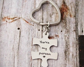 You're My Person - Key Chain - Keychain - Best Friends - Couples Keychain - Wedding Gift - You Are My Person - Puzzle Piece - Missing Piece