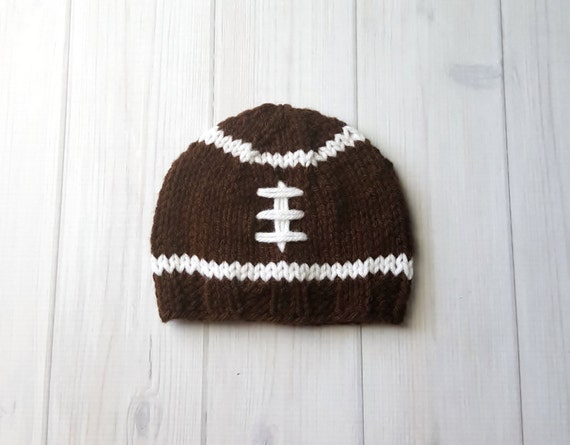Knit Pattern Baby Football Hat : Knit Baby Hat Knit Baby Football Hat Baby Girl or by YarnForBaby