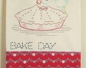 recreate an embroidered flour sack tea towel set 2