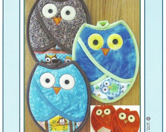 Who Owl Pot Holder Pattern to Make DIY Sewing Susie Shore Designs