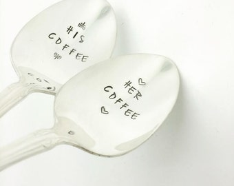 His Coffee Her Coffee, His and Her Coffee Set, Couples Gift, Gift for Boyfriend,  Gift for Girlfriend, Gift for Husband,  Engagement Gift,