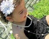 Black & White Polka-dot Toddler headband