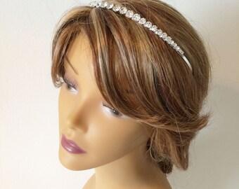 Bridal headband, simple,rhinestone headband, bridal headpiece,crystal headband,rhinestone headpiece,bridal headpiece rhinestone