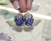 Blue Bollywood Jhumka Inspired Earrings