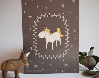 "Card: ""Nicole, the unicorn"""