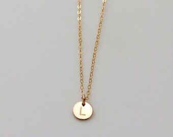 Tiny Monogram Charm Anklet / GOLD Fill Initial Anklet / Simple Everyday Jewelry / Bridesmaid's Gifts / Mother Anklet