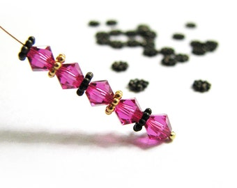 "SALE ""Black Gold"" 3.5 mm Daisy Spacers 10, 20, 50 pcs SP202B tiny Sterling Silver flat artisan spacer granulated beads"