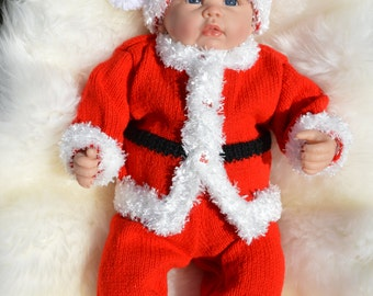 Baby Santa Costume Ideal Photo Prop For Seasonal Fun 6-9 month