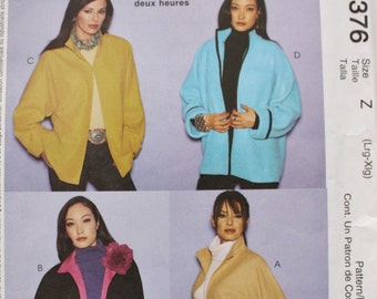The 2 Hour Jacket McCalls 3376 Sewing Pattern Plus Size Pattern