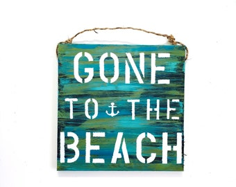 Beach sign/ Gone To The Beach / palm tree / summer sign