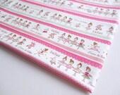 Sweet Ballerina Cotton Fabric, Ballet Dance Fabric, Ballet Rabbit, Pillow Cover, Baby shower, girl dress, Pouch, Curtain, Kid Bag, CT388