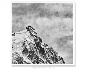aiguille du midi chamonix ski art ski decor black and white wall art fits ikea ribba frame mountain print mountain art