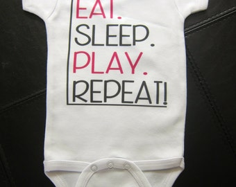 Eat. Sleep. Play. Repeat!  funny cute novelty one piece