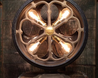 """Antique Atwater Kent """"Type E"""" Radio Speaker Upcycled Table Lamp - Industrial Lighting Home Decor"""