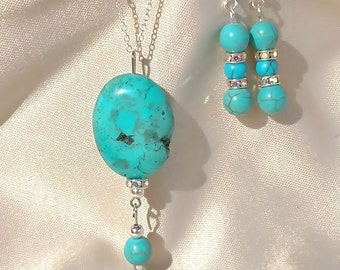 Turquoise Necklace & Earring Set
