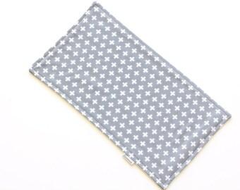 SALE || Burp Cloth || Plus Grey || Fleece Backing