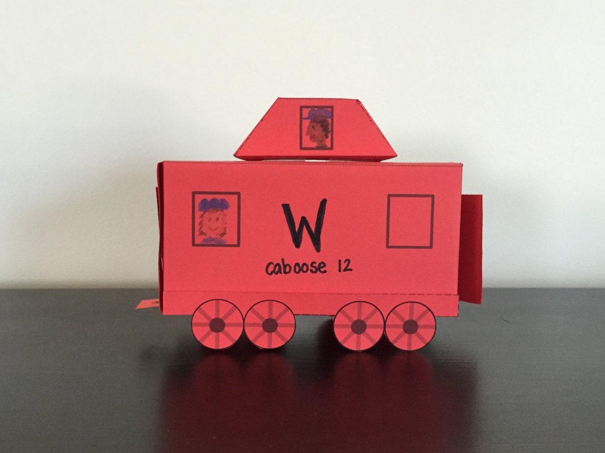 Train Caboose Paper Craft