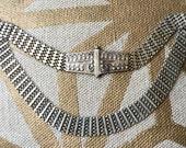 Crescent Moon Vintage Sterling Silver Belt