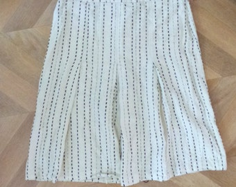 black and white skirt in size small