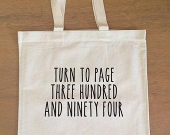 Harry Potter Tote Bag - Snape - Turn to Page 394 - Alan Rickman - Hogwarts