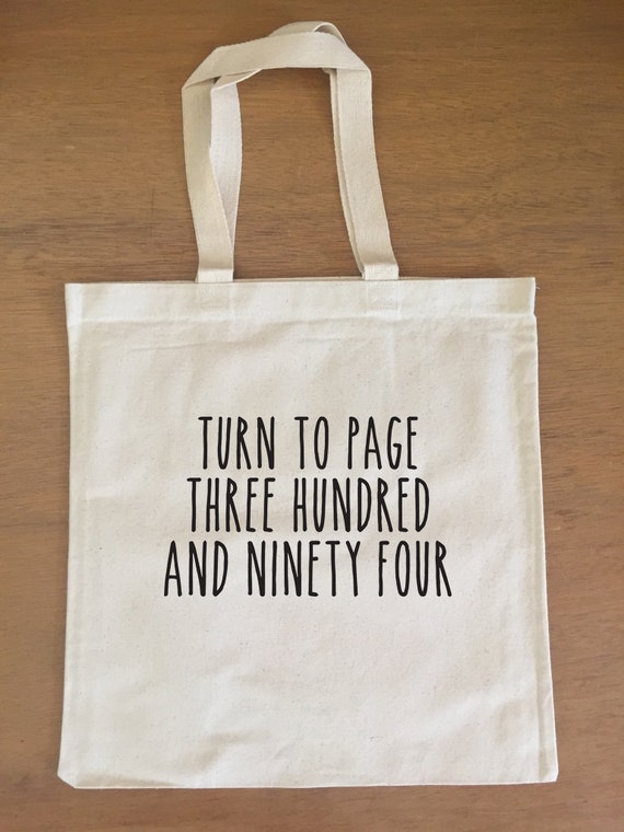 Harry Potter Tote Bag - Snape - Turn to Page 394 - Alan Rickman - Hogwarts