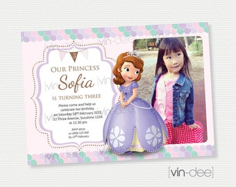 Sofia The First Birthday Invitation - DIY Printable