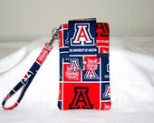 Cell Phone NCAA Pouch Wallet, Choose your Team,  iPhone 6, iPhone 6Plus, Samsung Galaxy S6, Cross Body Bag, MP3, iPod or Cash Pocket
