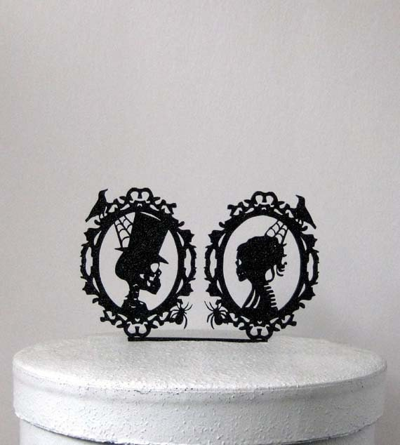 Like this item? - Wedding Cake Topper Halloween Wedding Cake Topper Skeleton