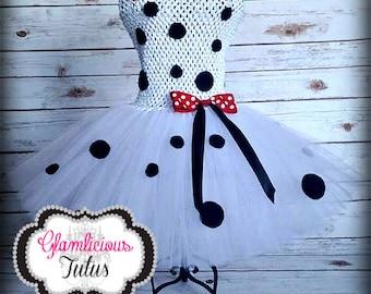 Dalmatian tutu dress| Dalmatian Costume | Newborn-Child 10/12 size