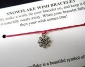 Snowflake Wish Bracelet- Choose your color