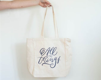 All the Things Hand Lettered Tote Bag