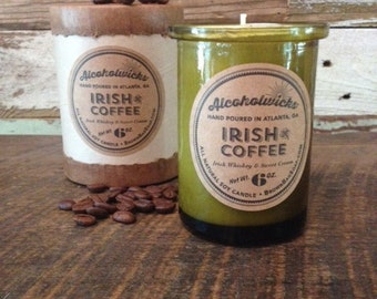 Irish Coffee candle by Alcoholwicks