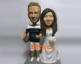 custom made Cake Topper wedding toppers unique bobblehead cake topper personalized bobble head wedding cake topepr- CT JXQM