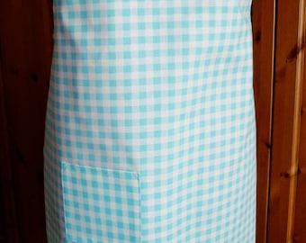 full length apron - gingham print