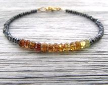 petro tourmaline & mystic spinel bracelet, petro tourmaline bracelet, tourmaline jewelry, october birthstone bracelet, beaded stack bracelet