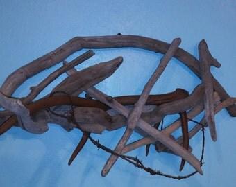 Driftwood and Elk Antler Art