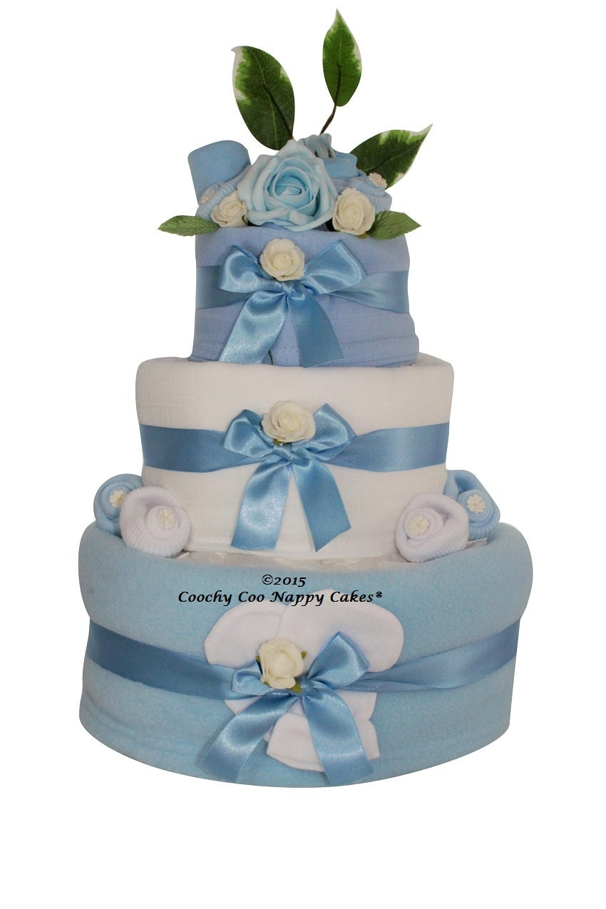 Three Tier Baby Clothes Nappy Cake Gift Baby Girl Baby Boy