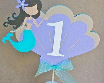 Mermaid Cake Topper or Centerpiece