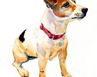 Custom Pet Portrait - Pet Portrait - 11x14in - Watercolor Painting - Art - Dogs