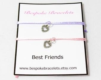 Best friend bracelet | Friendship bracelet | Best friend gift bracelet | Bracelet gift | Heart charm bracelet | Layer bracelet